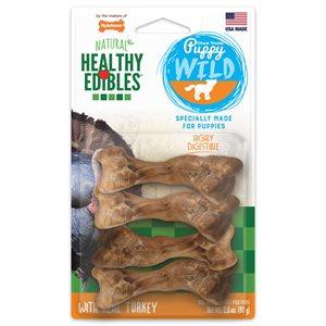 Nylabone Healthy Edibles Wild Puppy Turkey 4 Count Small