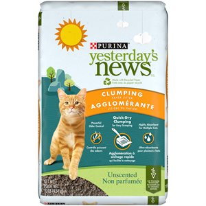 Yesterday's News Unscented Clumping Paper Cat Litter 4.5KG