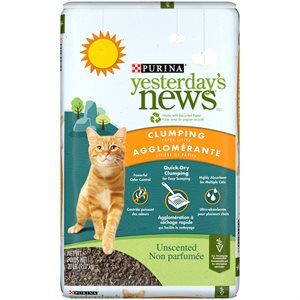 Yesterday's News Unscented Clumping Paper Cat Litter 9.0KG