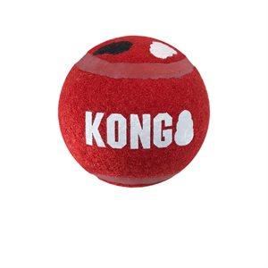 KONG Balles « Signature » Sport Moyennes Paquet de 3