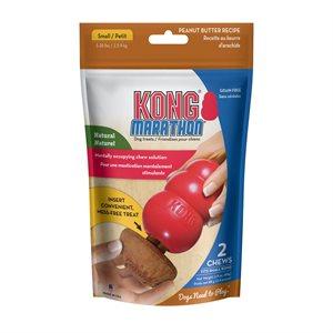 KONG Marathon Dog Treat 2-Pack Peanut Butter Small