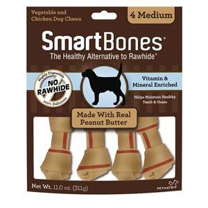 Spectrum Smart Bones Peanut Butter Medium 4 Pack