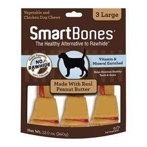 Spectrum Smart Bones Peanut Butter Large 3 Pack