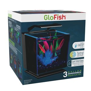 Spectrum Brands Ensemble d'Aquarium Teinté « GloFish » Betta 3 Gallons