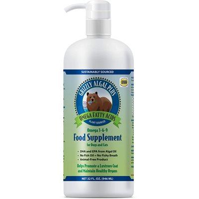 Grizzly Algal Plus Omega 3-6-9 Liquid Supplement 32oz