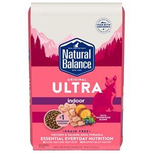 Natural Balance Cat Indoor Ultra Grain Free Chicken & Salmon 15 lb