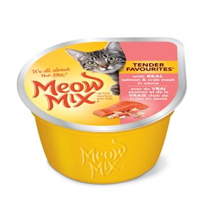 Smuckers Meow Mix Tender Favourites Salmon & Crab Wet Cat Food 24 / 78g