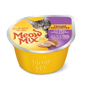 Smuckers Meow Mix Tender Favourites Turkey & Giblets Wet Cat Food 24 / 78g