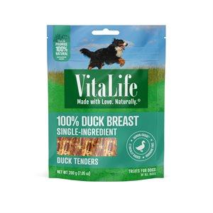 VitaLife Dog Jerky Treats Duck Tenders 200g