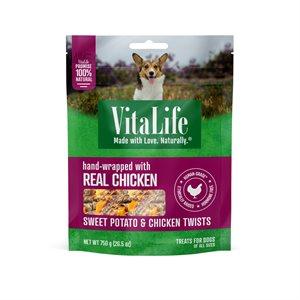 VitaLife Dog Jerky Treats Sweet Potato & Chicken Twists 750g